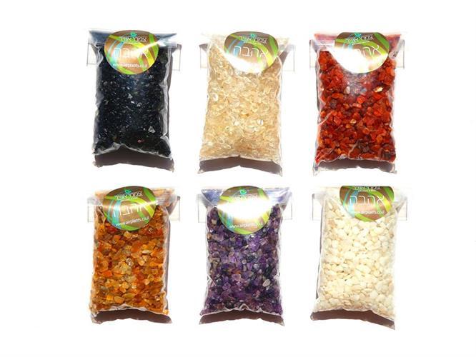 שבבי קריסטל במגוון צבעים 200 גרם