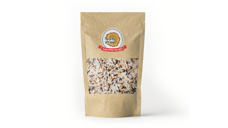 אורז פרא מעורב 500 גרם