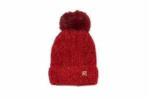 כובע סרוג פונפון תינוקות