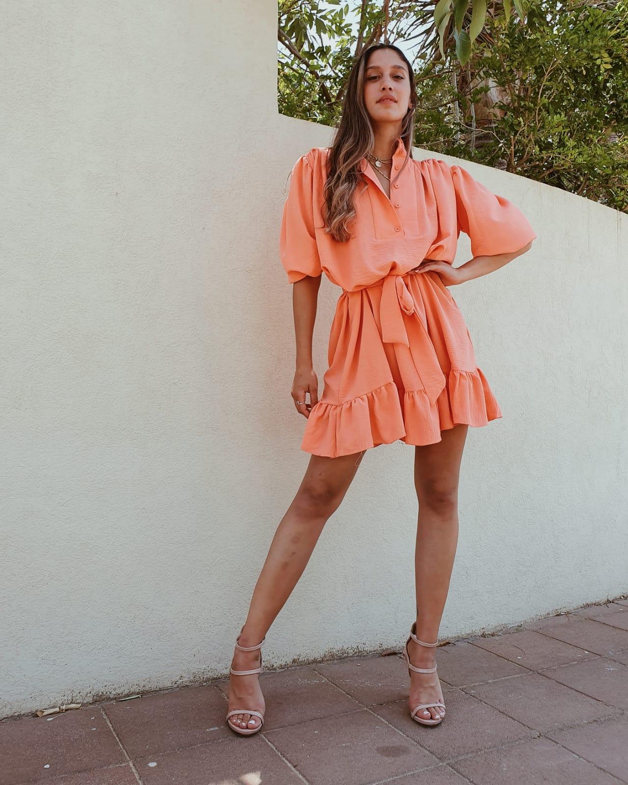 שמלת ג׳ודית - כתומה