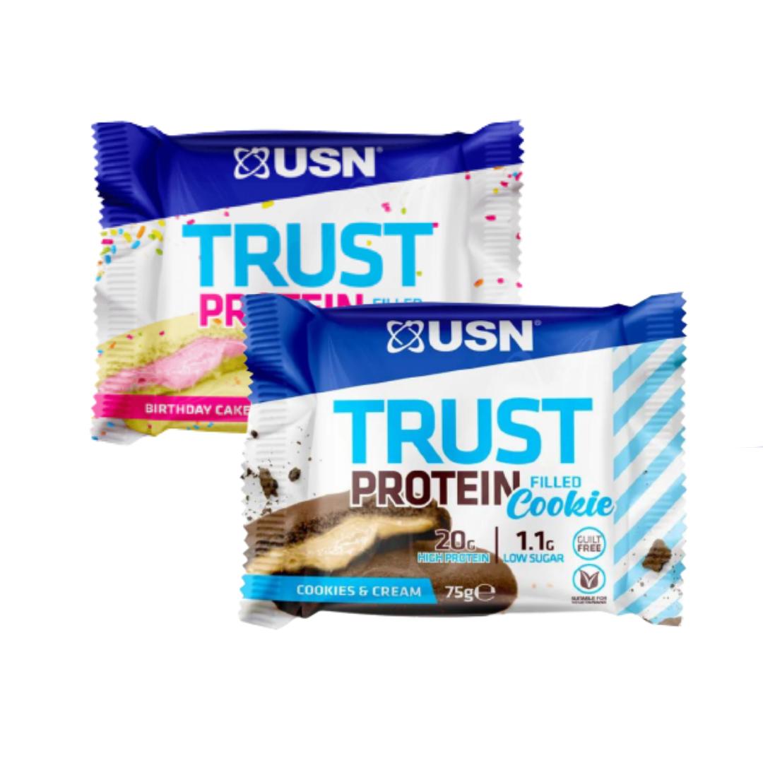 עוגיית חלבון TRUST PROTEIN (12 יח במארז) מבית USN