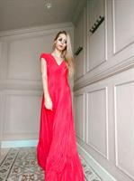 שמלת DANA אדום פליסה