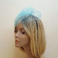 כובע אלגנטי לאירוע - תכלת/טורקיז