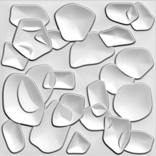"""חיפויי קיר תלת מימדי דגם ''duckweed'' בגודל 100*100 ס""""מ"""