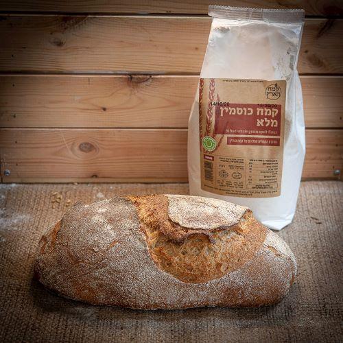 לחם מחמצת מכוסמין מלא