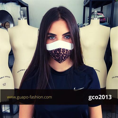 מסכת בד מעוצבת מסכה מנומרת גואפו reusable face coverings