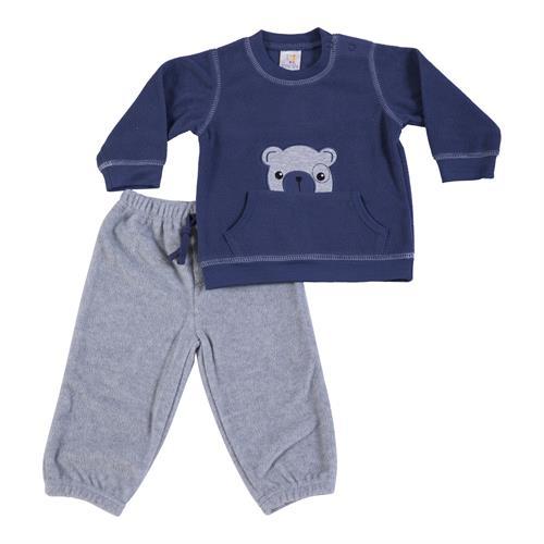 חליפת פליז כחול כהה דובי