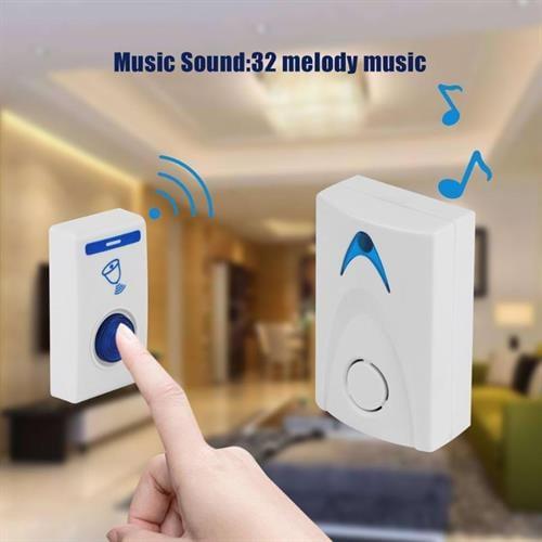 פעמון אלחוטי לבית/למשרד עם 32 מנגינות