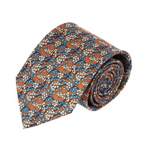 עניבה עלים שילוב כתום