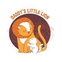 בגד גוף לתינוק Daddy's Little Lion