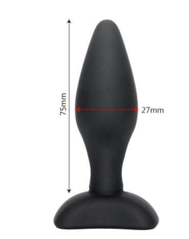 """פלאג איכותי בצבע שחור 7.5 ס""""מ רוחב 27ממ"""