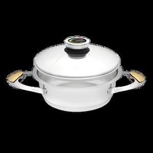 """סיר לבישול בריא בנפח 2 ליטר, קוטר 20 ס""""מ"""
