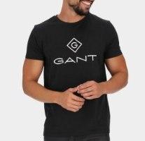 גברים | GANT T-SHIRT LOGO BLACK