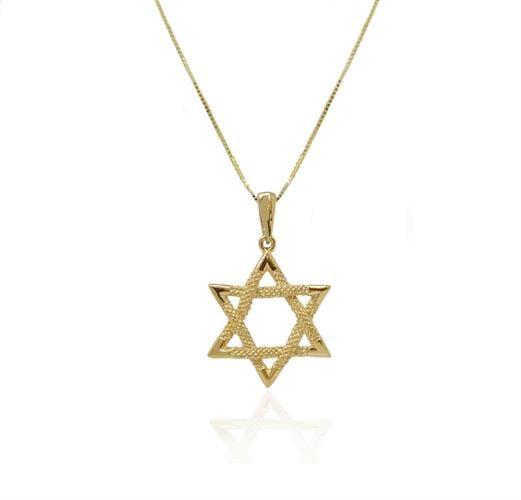 שרשרת זהב מגן דוד מאוד מיוחד לגבר