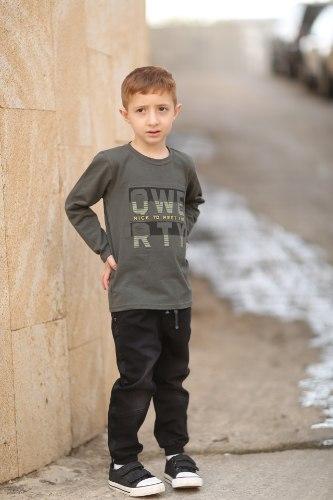מכנס ג'ינס בנים שחור
