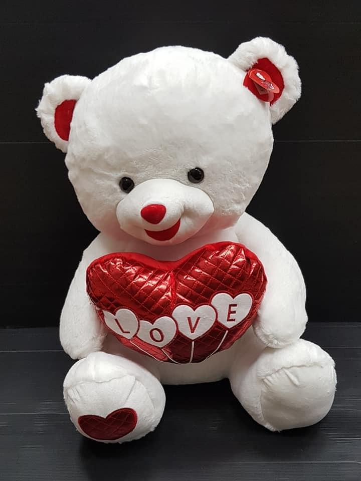 דובי עם לב 60סמ מקט156