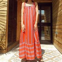 שמלת בילי אדום פסים
