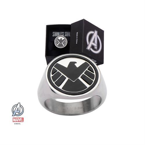 טבעת S.H.I.E.L.D פלדת אל-חלד MARVEL הנוקמים לגברים / נשים