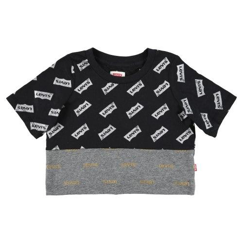קרופ טופ לוגו ריפיט LEVIS שחורה - מידות 1-13 שנים