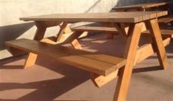 שולחן קקל 1.8 עובי עץ 5 סמ