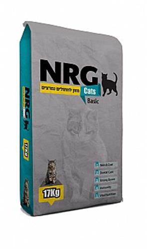 """2 שקים אן אר ג'י חתולים 17 ק""""ג NRG"""