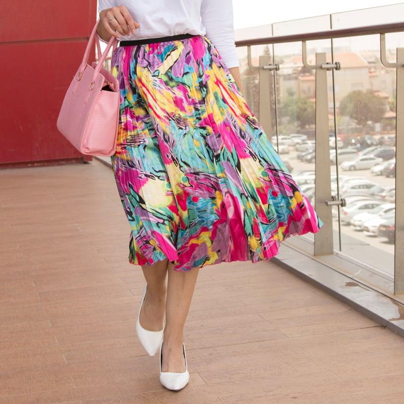 מערבולת צבעונית - חצאית מידי קיץ 2019