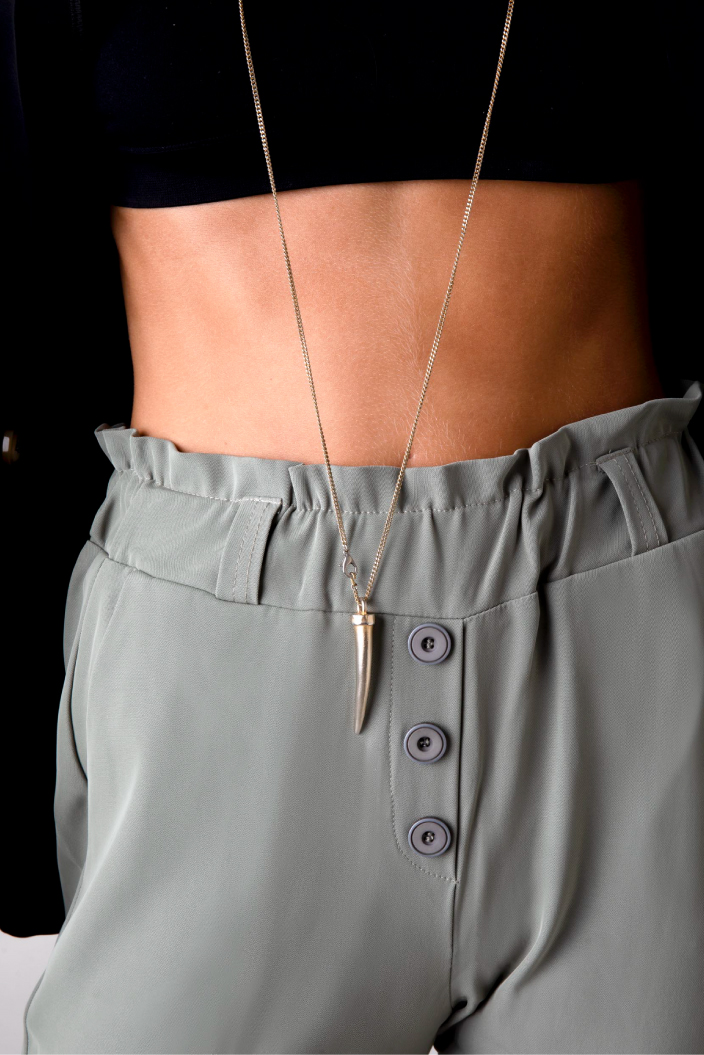 מכנס מחוייט כפתורים