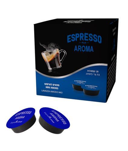 20 קפסולות אספרסו מור AROMA תואם לוואצה מודו מיו - חוזק 6