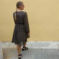 שמלת Vanice שחור פוייל