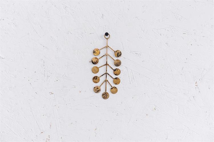 עלה מתכת S - זהב (כדורים)
