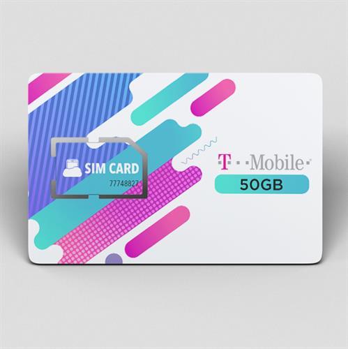 כרטיס סים 50 גיגה ברשת T MOBILE