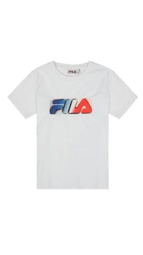 טישרט לבנה לוגו צבעוני (2-8) FILA