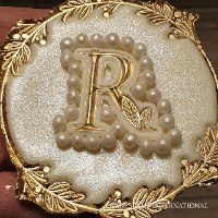 Alphabet Flowery letter mold | 3 cm high | Rubber  letter mold | NEW 2021