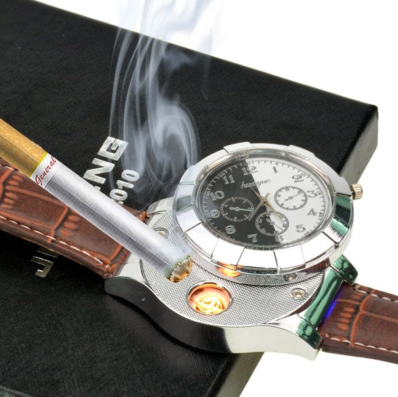 שעון יד נטען הכולל מצית אלקטרונית