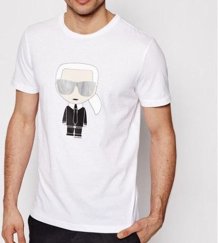 גברים | KARL LAGERFELD T-SHIRT CHARACTER WHITE