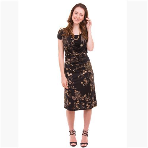 שמלת הנקה רבידה שרוול קצר NursingAnywear