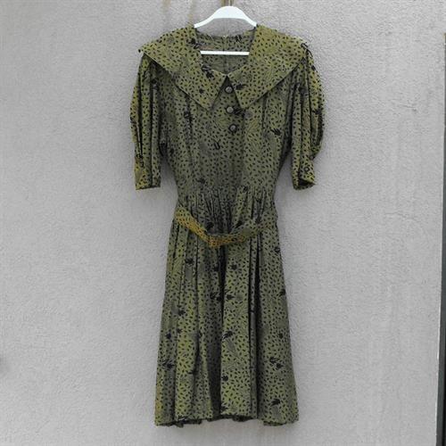 שמלת כותנה של המכובדות משנות ה-80 מידה M/L