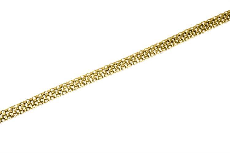 צמיד חוליות זהב לאישה דגם שחמט