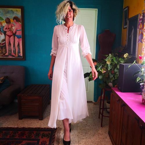 קומבניזון סקסי - סט של שמלת מקסי וחלוק מידה S/M