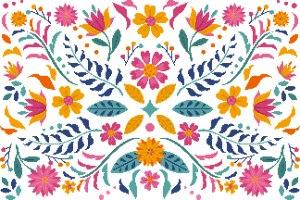 חגיגה מקסיקנית- הדפס ציור
