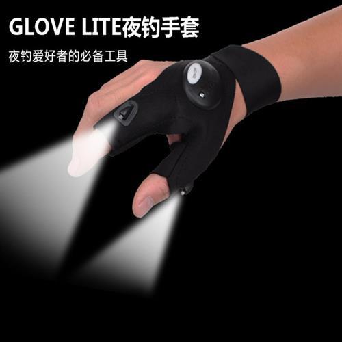 כפפת Glovelite תאורת לד לקמפינג דייג רכיבה ועוד