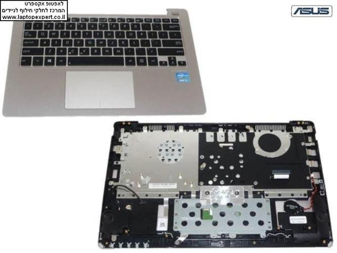 החלפת מקלדת למחשב נייד אסוס Asus X202E Q200E Q200E-BHI3T45 11.6 PALMREST WITH TOUCHPAD 13GNFQ1AM071