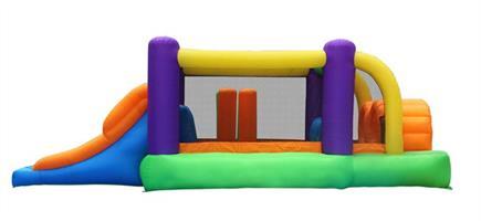 מתקן קפיצה מסלול המכשולים הפי הופ - 9063 - Obstacle Course Bouncer Happy Hop