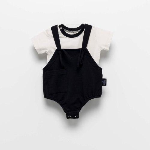 בגד גוף חיתול שחור MOI NOI מידות - 3-24 חודשים
