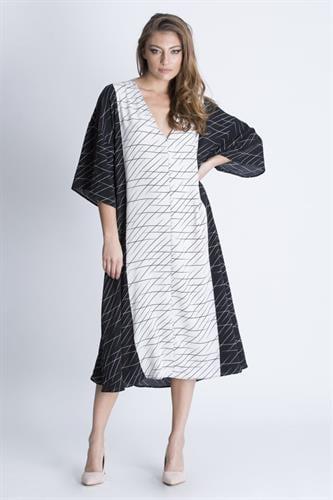 שמלת מיראז' שחור לבן