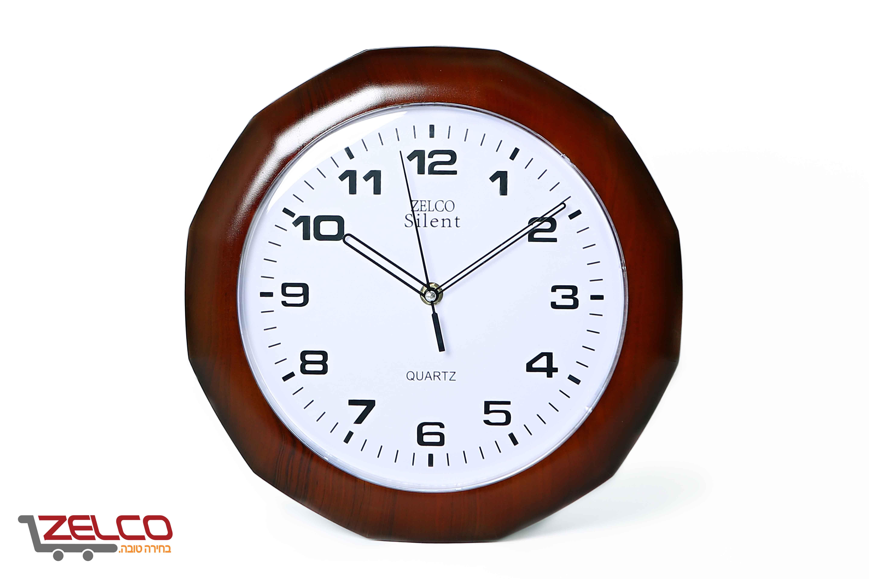 שעון קיר 12 צלעות צבע דובדבן