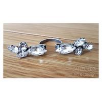 טבעת כנפיים קריסטלים