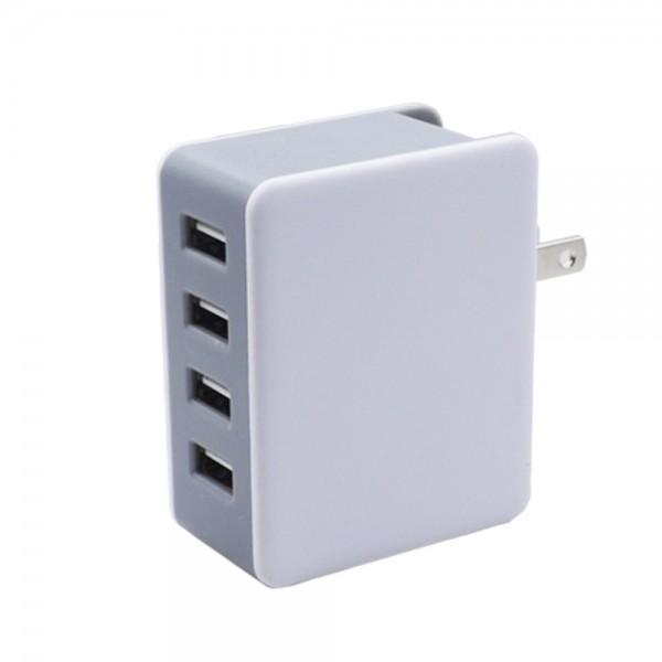 מטען קיר בעל 4 יציאות USB