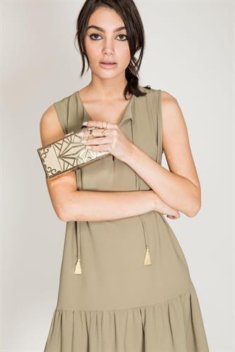שמלת פאלם ירוק