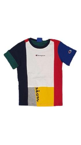 חולצה שילוב צבעים בנים CHAMPION
